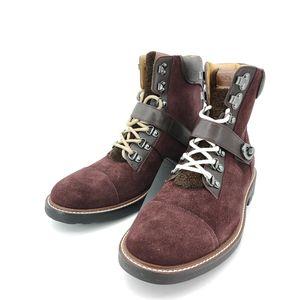 COACH 蔻驰枣红色靴子