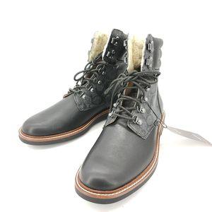 COACH 蔻驰黑色拼老花靴子