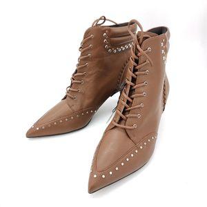COACH 蔻驰棕色细跟靴子