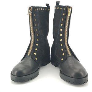 COACH 蔻驰黑色中跟靴子