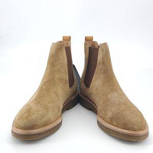COACH 蔻驰卡其绒面靴子