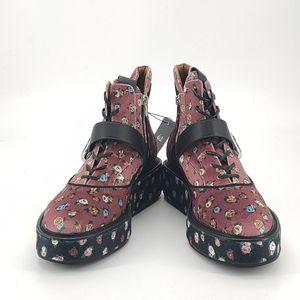 COACH 蔻驰丝绒印花靴子