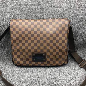 Louis Vuitton 路易·威登棕色棋盘男士单肩斜挎公文包