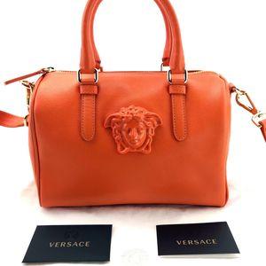 Versace 范思哲全皮波士顿肩带手提包