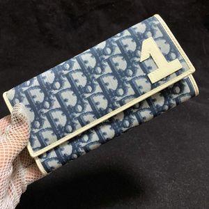 Dior 迪奥数字限量款青花瓷蓝白老花长款钱包