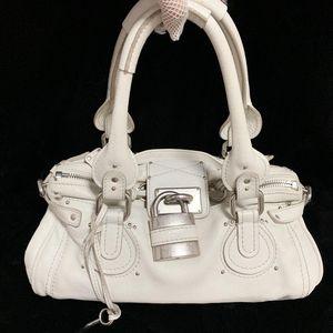 Chloé 蔻依经典锁头款白雪公主法棍机车手提包