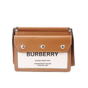 Burberry 博柏利新款Title系列双面斜挎包