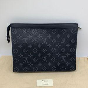 Louis Vuitton路易·威登黑老花手拿包