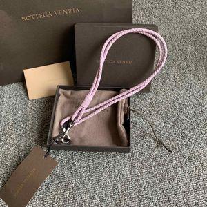 Bottega Veneta葆蝶家女士紫罗兰皮质钥匙扣