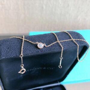 Tiffany & co . Diamonds单钻项链
