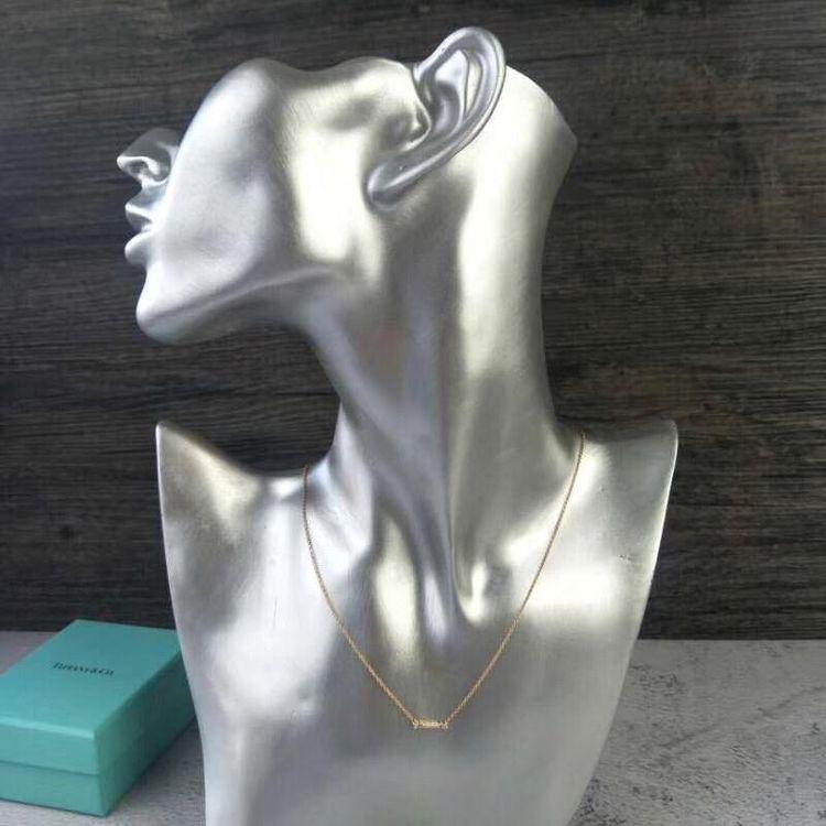 Tiffany & Co.满钻锁骨小笑脸项链