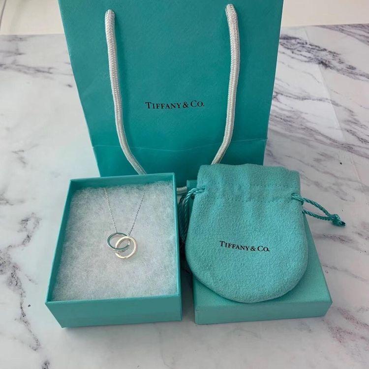 Tiffany & Co.女士925银双环项链