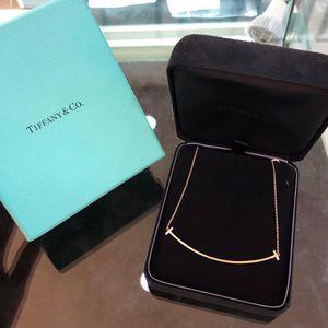Tiffany & Co.大号玫瑰金笑脸项链