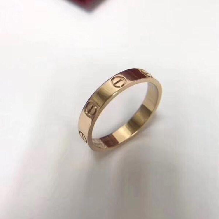 Cartier 卡地亚18K玫瑰金戒指