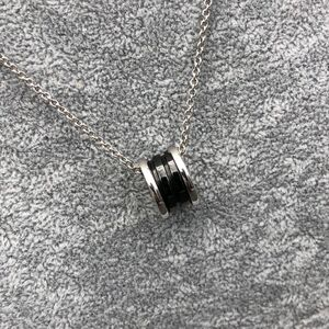 BVLGARI 宝格丽纯银黑陶瓷项链