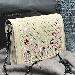 Bottega Veneta单肩包刺绣编织链条包斜挎包