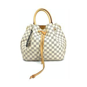 Louis Vuitton 路易·威登白棋盘格手提单肩包