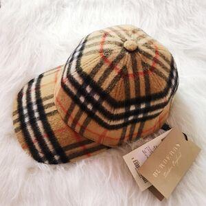Burberry 博柏利经典格纹羊毛棒球帽