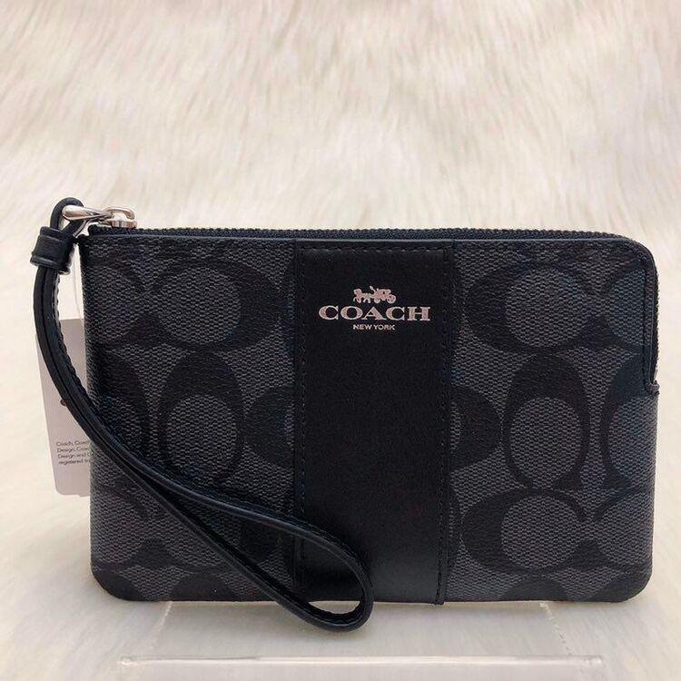 COACH 经典拼色C纹手拿包