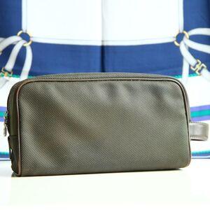 Louis Vuitton  路易威登深绿大号帆布手拿包