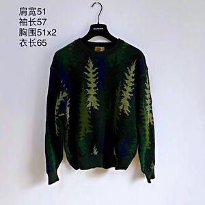 KENZO 高田贤三松树飘雪艺术图案时尚休闲羊毛衣针织衫
