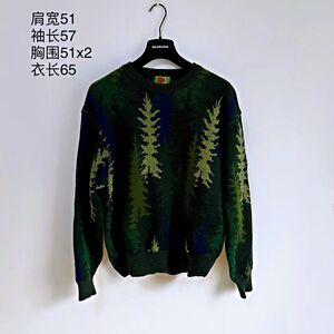 KENZO 高田贤三松树飘雪艺术图案羊毛衣针织衫
