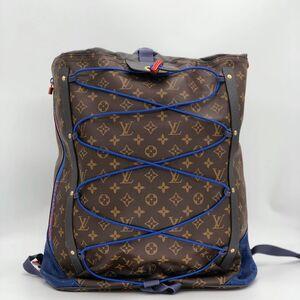 Louis Vuitton 路易·威登BACKPACK OUTDOOR蓝色老花双肩包