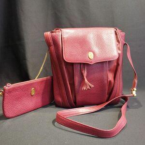 Cartier 卡地亚女士DJ12578猪肝红全皮子母单肩包