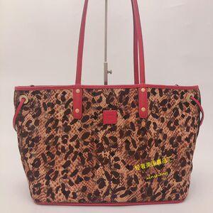 MCM 豹纹双面双色购物袋托特包