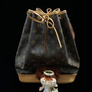 Louis Vuitton 路易·威登经典老花大号抽带水桶单肩包