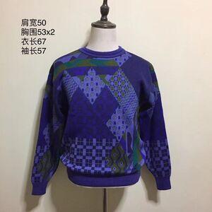 KENZO 高田贤三炫彩艺术图案时尚休闲羊毛衣针织衫