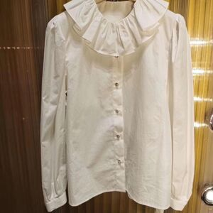 Miu Miu缪缪女士白色休闲衬衫
