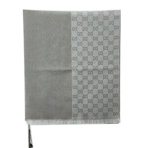 GUCCI 古驰浅灰色围巾