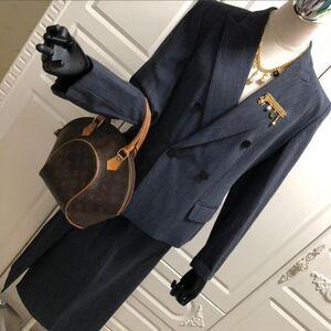 MaxMara 麦丝玛拉西服领上衣+半裙商务职业套装