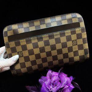 Louis Vuitton 路易·威登经典咖金棋盘格男士手包