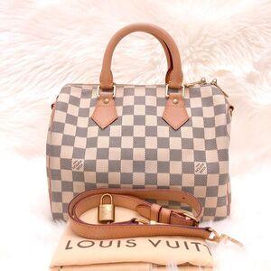 Louis Vuitton 路易·威登白棋盘格sp25肩带款枕头包