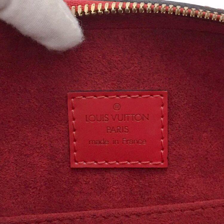 Louis Vuitton 路易·威登红色手波纹牛皮手提包