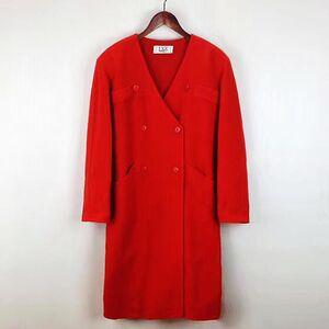 Dior 迪奥高级定制款中国红大V领羊毛廓形大衣