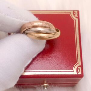 Cartier 卡地亚三色三金三环54号戒指