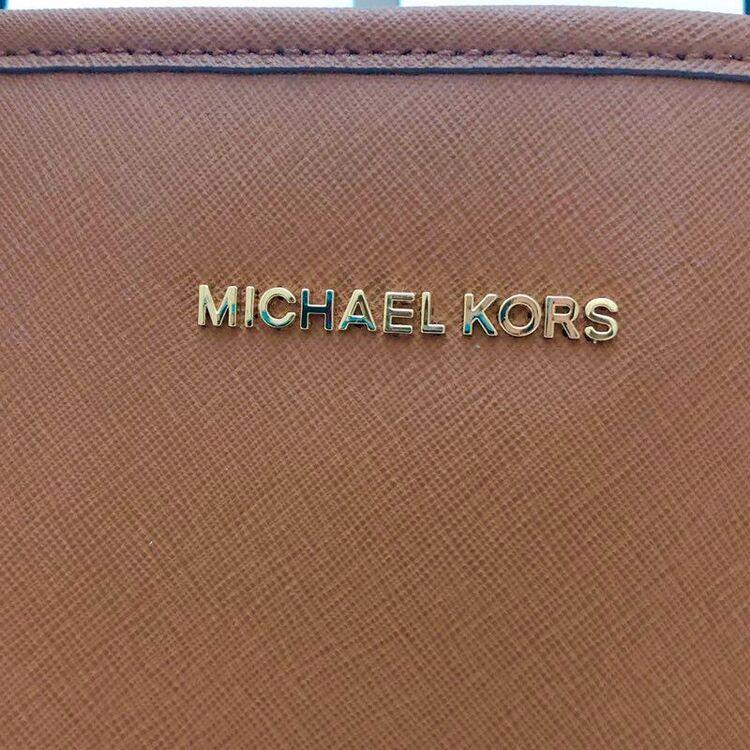 Michael kors迈克.科尔斯焦糖色牛皮大号托特包