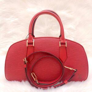 Louis Vuitton西班牙红水波纹元宝手提单肩包