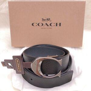 COACH 蔻驰加宽版酷C双面牛皮男士礼盒腰带