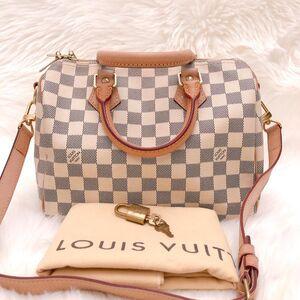 Louis Vuitton白棋盘格sp25肩带款枕头包