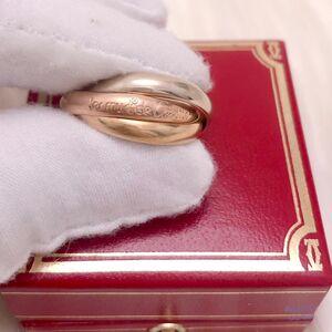 Cartier 卡地亚女士三色三金54号三环戒指