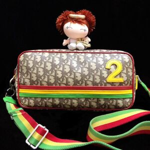 Dior 迪奥牙买加限量款彩虹老花横版相机单肩斜挎包