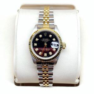 Rolex 劳力士69713大包钻日黑盘女士机械表