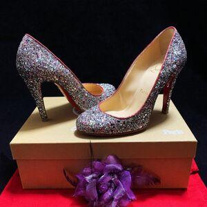 Christian Louboutin 克里斯提·鲁布托限量款极光炫彩亮片名媛红底高跟鞋
