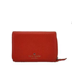 Kate Spade 凯特·丝蓓橘红色短款钱包