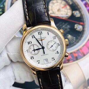 LONGINES 浪琴二手正品 浪琴名匠系列自动机械男士腕表,18k玫瑰金,计时功能日期显示