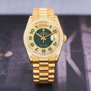Rolex 劳力士星期日历型18K黄金加原钻自动机械手表